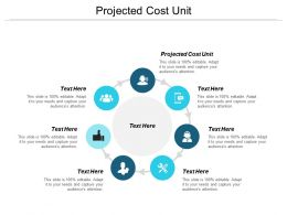 Projected Cost Unit Ppt Powerpoint Presentation Infographic Template Vector Cpb