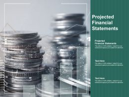 Projected Financial Statements Ppt Powerpoint Presentation Infographic Template Show Cpb
