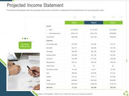 Projected Income Statement Company Expansion Through Organic Growth Ppt Icons