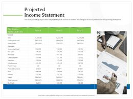 Projected Income Statement M2272 Ppt Powerpoint Presentation Icon Maker
