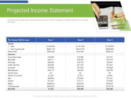 Projected Income Statement Miscellaneous Ppt Powerpoint Presentation Design Templates
