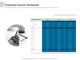 Projected Income Statement Ppt Powerpoint Presentation Icon Example