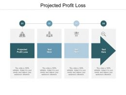 Projected Profit Loss Ppt Powerpoint Presentation Model Infographic Template Cpb