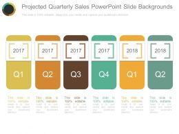 Projected Quarterly Sales Powerpoint Slide Backgrounds