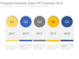 Projected Quarterly Sales Ppt Example 2015