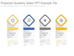 Projected Quarterly Sales Ppt Example File