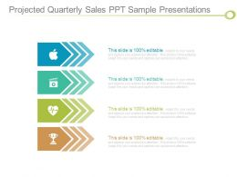 Projected Quarterly Sales Ppt Sample Presentations