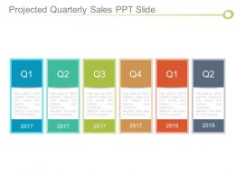Projected Quarterly Sales Ppt Slide