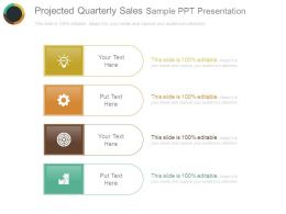 Projected Quarterly Sales Sample Ppt Presentation