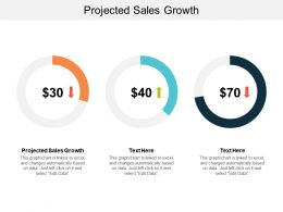 Projected Sales Growth Ppt Powerpoint Presentation Infographic Template Show Cpb