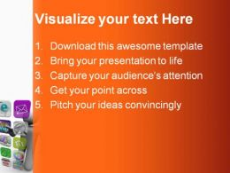 Projected Touch Screen Technology PowerPoint Backgrounds And Templates 0111
