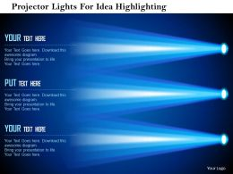 projector_lights_for_idea_highlighting_flat_powerpoint_design_Slide01
