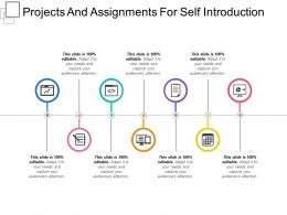 Projects And Assignments For Self Introduction Presentation Visual Aids