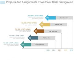 Projects And Assignments Powerpoint Slide Background