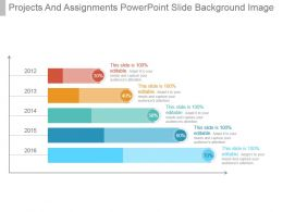 Projects And Assignments Powerpoint Slide Background Image