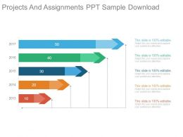 Projects And Assignments Ppt Sample Download