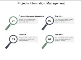 Projects Information Management Ppt Powerpoint Presentation Portfolio Influencers Cpb