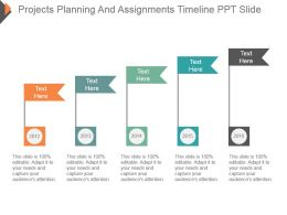 Projects Planning And Assignments Timeline Ppt Slide