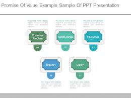 Promise Of Value Example Sample Of Ppt Presentation