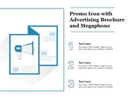 Promo Icon With Advertising Brochure And Megaphone