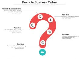 Promote Business Online Ppt Powerpoint Presentation Gallery Outline Cpb