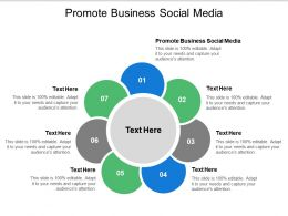 Promote Business Social Media Ppt Powerpoint Presentation Show Summary Cpb