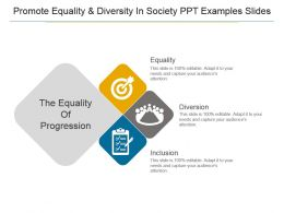 Promote Equality And Diversity In Society Ppt Examples Slides