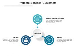 Promote Services Customers Ppt Powerpoint Presentation Slides Cpb