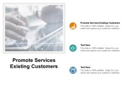 Promote Services Existing Customers Ppt Powerpoint Presentation Visual Aids Cpb