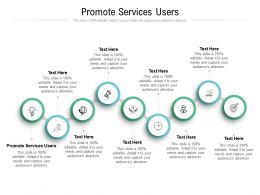 Promote Services Users Ppt Powerpoint Presentation Infographic Template Ideas Cpb