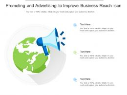 Promoting And Advertising To Improve Business Reach Icon