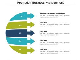 Promotion Business Management Ppt Powerpoint Presentation Slides Graphic Images Cpb