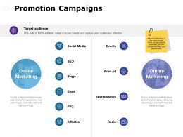 Promotion Campaigns Social Media Ppt Powerpoint Presentation File Graphics