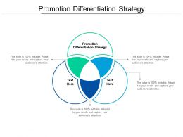 Promotion Differentiation Strategy Ppt Powerpoint Presentation Gallery Microsoft Cpb
