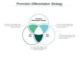 Promotion Differentiation Strategy Ppt Powerpoint Presentation Slides Graphics Cpb