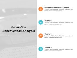 Promotion Effectiveness Analysis Ppt Powerpoint Presentation Summary Pictures Cpb