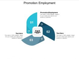 Promotion Employment Ppt Powerpoint Presentation Backgrounds Cpb