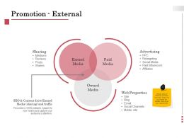 Promotion External Advertising Ppt Powerpoint Presentation Styles