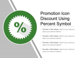 Promotion Icon Discount Using Percent Symbol