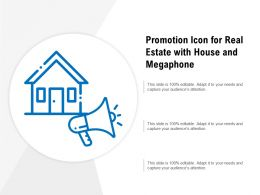 Promotion Icon For Real Estate With House And Megaphone