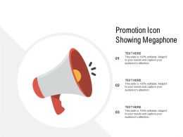 Promotion Icon Showing Megaphone