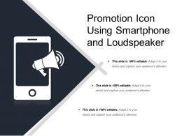 Promotion Icon Using Smartphone And Loudspeaker