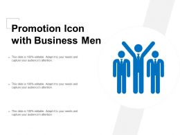 Promotion Icon With Business Men