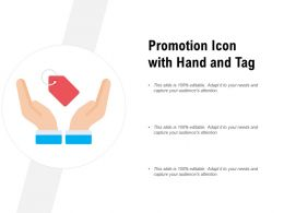 Promotion Icon With Hand And Tag