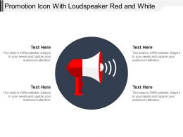 Promotion Icon With Loudspeaker Red And White
