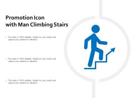 Promotion Icon With Man Climbing Stairs
