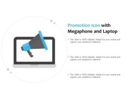 Promotion Icon With Megaphone And Laptop