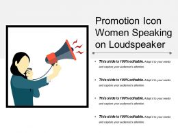 Promotion Icon Women Speaking On Loudspeaker