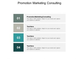 Promotion Marketing Consulting Ppt Powerpoint Presentation Inspiration Ideas Cpb