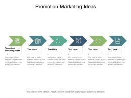 Promotion Marketing Ideas Ppt Powerpoint Presentation Layouts Images Cpb